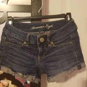 American Eagle Jean Shorts size 0